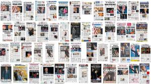 صف�ه اول روزنامه های جهان  پس از پیروزی باراک اوباما
